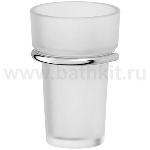 Держатель со стаканом - компонент (матовый хрусталь; хром) FBS Universal - фото
