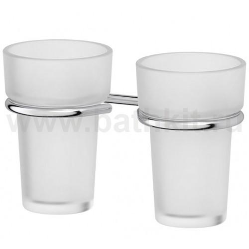 Держатель с 2-мя стаканами - компонент (матовый хрусталь; хром) FBS Universal - фото
