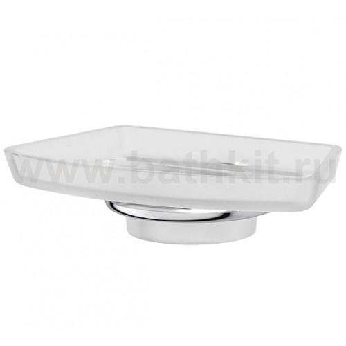 Мыльница стеклянная - компонент (матовый хрусталь; хром) FBS Universal - фото