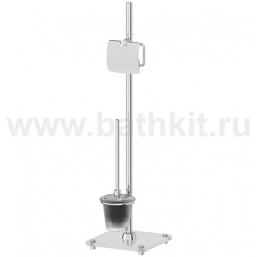 Стойка комбинированная для туалета (матовое стекло; хром) FBS Universal - фото