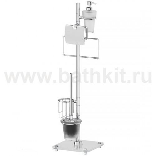 Стойка комбинированная для туалета с биде (матовое стекло; хром) FBS Universal - фото