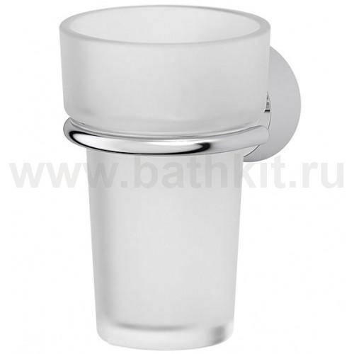 Держатель со стаканом (матовый хрусталь; хром) FBS Vizovice - фото