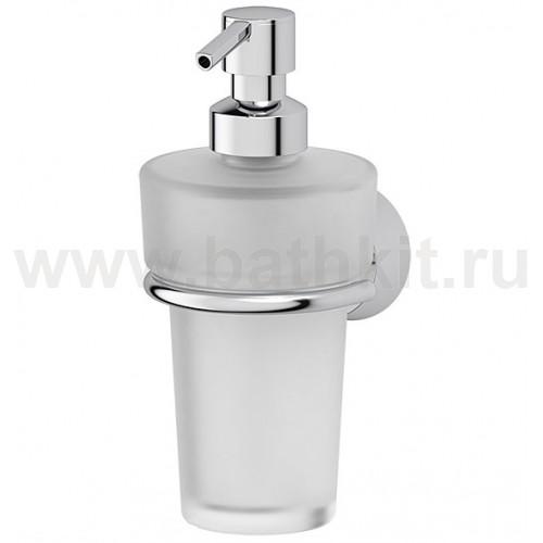 Держатель с емкостью для жидкого мыла (матовый хрусталь; хром) FBS Vizovice - фото