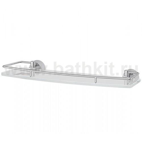 Полка 40 см (матовое стекло; хром) FBS Vizovice - фото