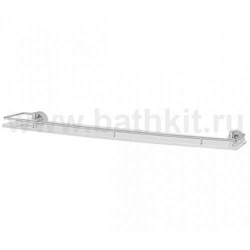 Полка 70 см (матовое стекло; хром) FBS Vizovice - фото