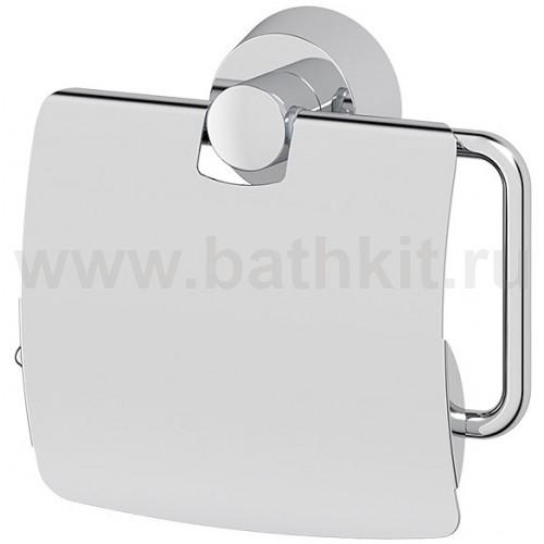 Держатель туалетной бумаги с крышкой (хром) FBS Vizovice - фото