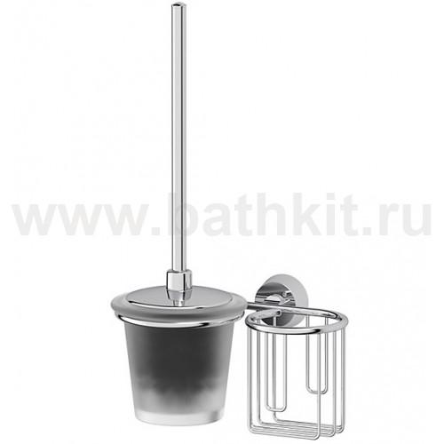 Ерш с крышкой и держатель освежителя (матовый хрусталь; хром) FBS Vizovice - фото