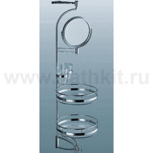 Комплект для ванной,  зеркало + 2 полки,  стекло, Н 950 мм