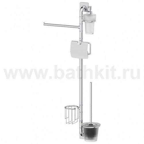 Штанга комбинированная для туалета с биде (хром) 385х847х118 мм