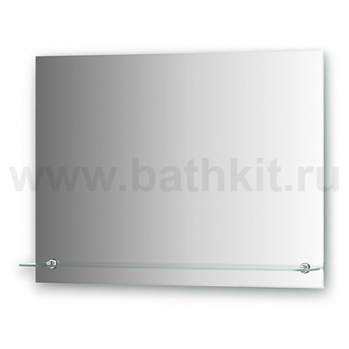 Зеркало с полочкой (80х60 см)