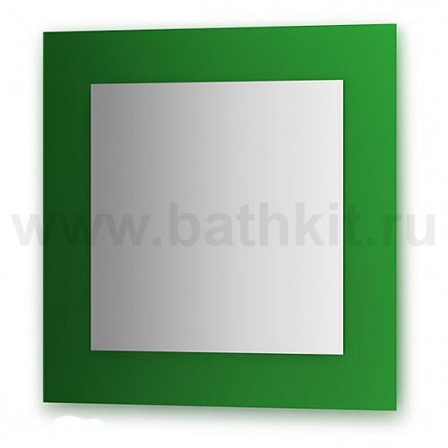 Зеркало  (70х70 см, зеленый)