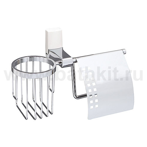 Держатель туалетной бумаги и освежителя WasserKraft Leine K-5059WHITE - фото