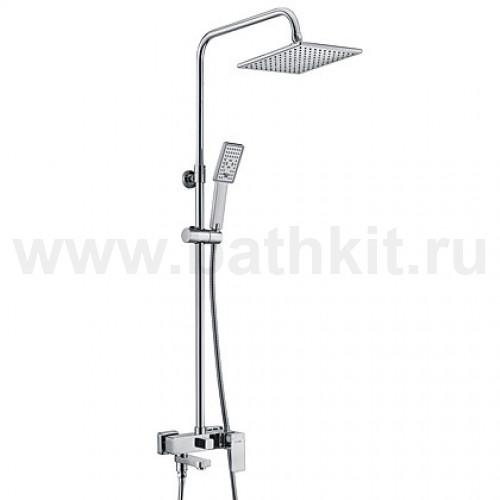 Душевой комплект со смесителем для ванны, 800/1150x551 мм