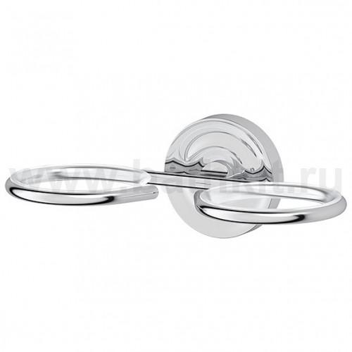 Держатель 2-х стаканов/емкостей для жидкого мыла (хром)