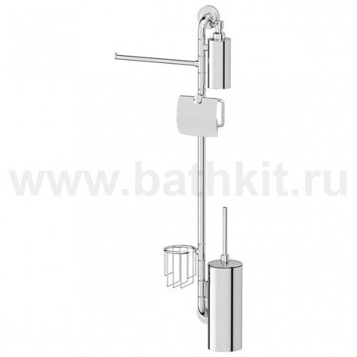 Штанга комбинированная для туалета с биде (хром) 367х900х92 мм