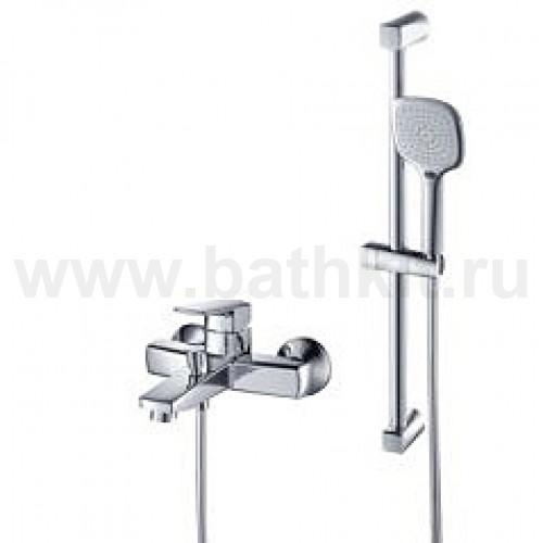 ELITE Смеситель ванна стена в комплекте с душевой стойкой