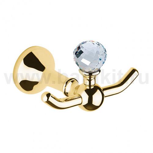 Крючок двойной с кристаллом Swarovski