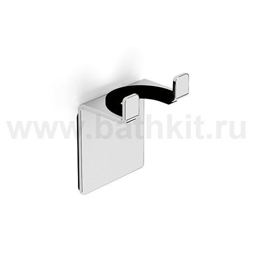 Крючок двойной универсальный на клейкой основе 3 мм