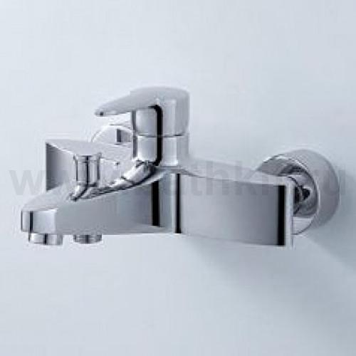 LEAF Смеситель ванна стена с лейкой