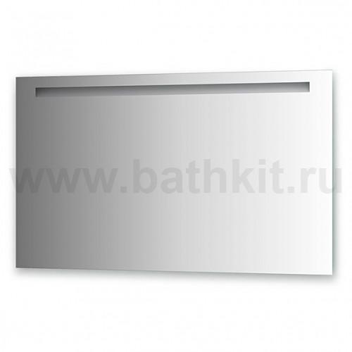 Зеркало со встроенным светильником (120х70 см, хром)