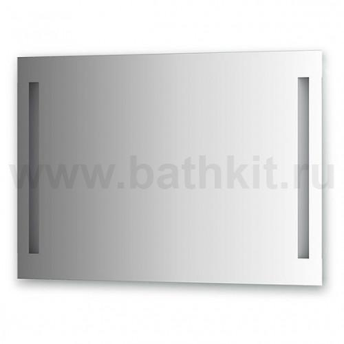 Зеркало со встроенными светильниками (100х70 см, хром)