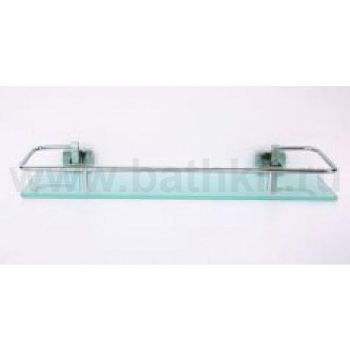 Полка стеклянная 40 см с ограничителем