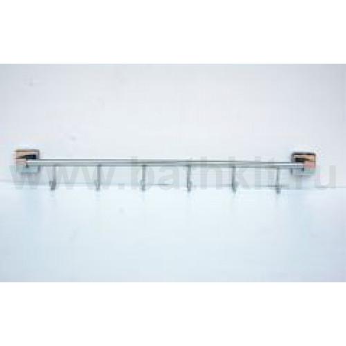Полотенцедержатель трубчатый на шесть крючков