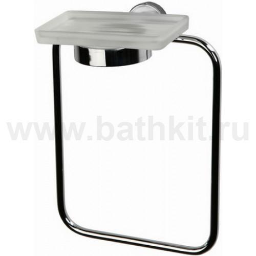 Кольцо для полотенца с мыльницей стеклянной