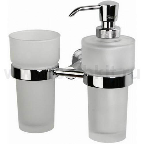 Стакан с дозатором для жидкого мыла стеклянные