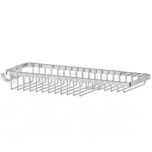 Полочка-решетка комбинированная 28 см (хром)