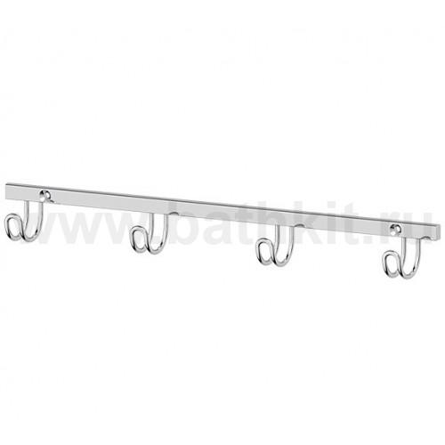 Планка с 4-мя крючками 24 см (хром)