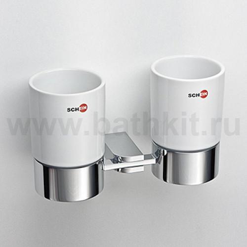 Стакан керамический двойной к стене
