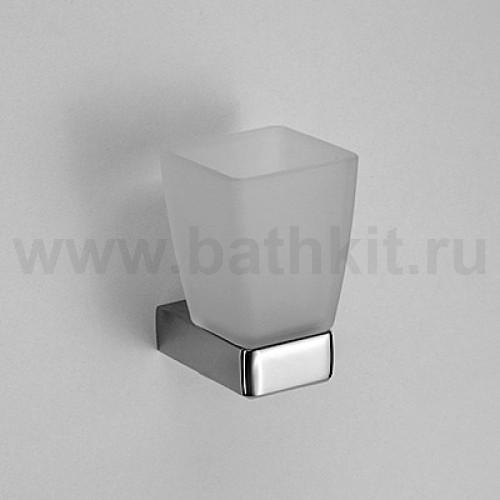 Стакан стеклянный к стене квадратный