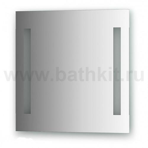 Зеркало со встроенными светильниками (55х55 см)