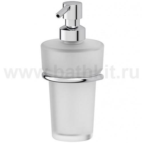 Держатель с емкостью для жидкого мыла - компонент (матовый хрусталь; хром)