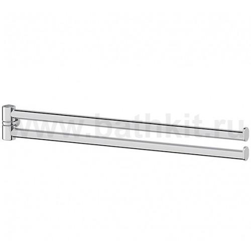 Держатель для полотенец поворотный двойной 35 см - компонент (хром)