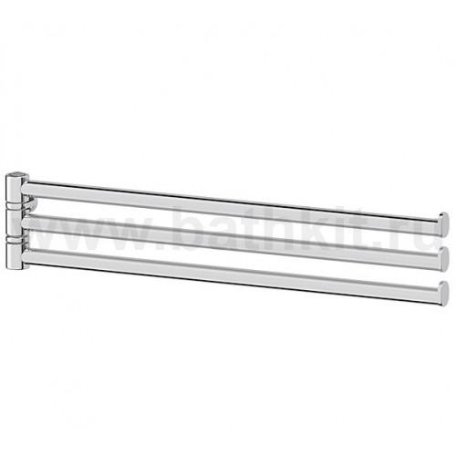 Держатель для полотенец поворотный тройной 35 см - компонент (хром)