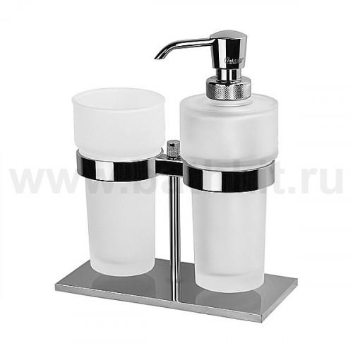 Стакан с дозатором для ж/мыла стеклянные