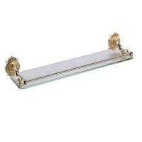 Полка стеклянная с ограничителем 52 см