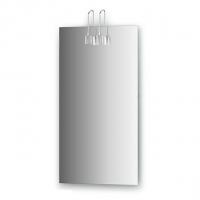 Зеркало со светильниками, хром (40х75 см)