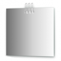 Зеркало со светильниками, хром (80х75 см)