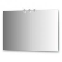 Зеркало со светильниками (хром 110х75 см)