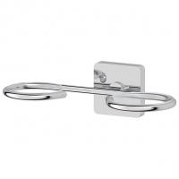Держатель мыльницы и стакана/емкости для жидкого мыла (хром)