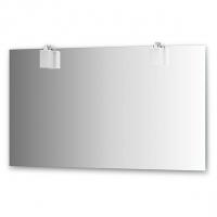 Зеркало со светильниками (130х75 см хром)