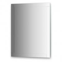 Зеркало с зеркальным обрамлением, хром (70х90 см)