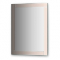 Зеркало с зеркальным обрамлением, цвет хром (60х80 см)