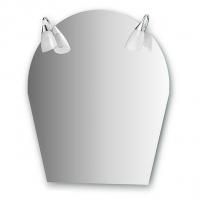 Зеркало со светильниками (50/70х80 см)