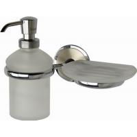 Дозатор для жидкого мыла с мыльницей стеклянные