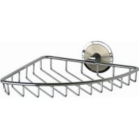 Полочка-решетка металлическая угловая, хром