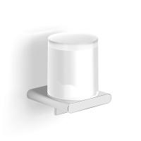 Диспенсер стекло к стене круглый с пластиковой колбой